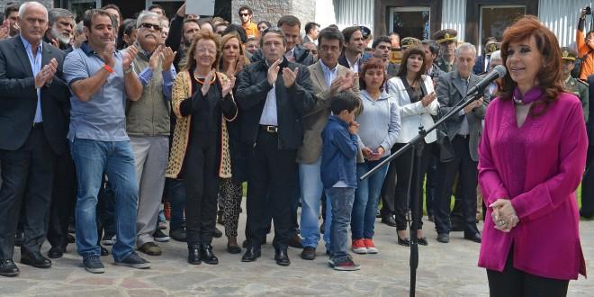 Cristina Kirchner inauguró el anfiteatro Paseo del Bosque