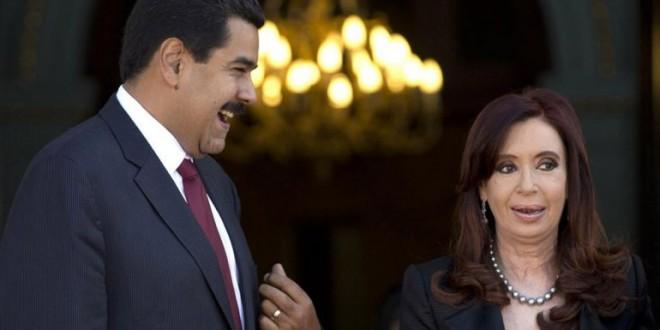 """El mensaje del régimen chavista a Kirchner: """"Fuerza Cristina"""""""