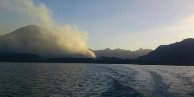 Dos incendios arrasan 550 hectáreas de bosque cordillerano en Chubut