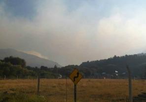 Advierten sobre la presencia de humo en la Ruta 40