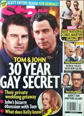 Una relación homosexual entre Tom Cruise y John Travolta ?