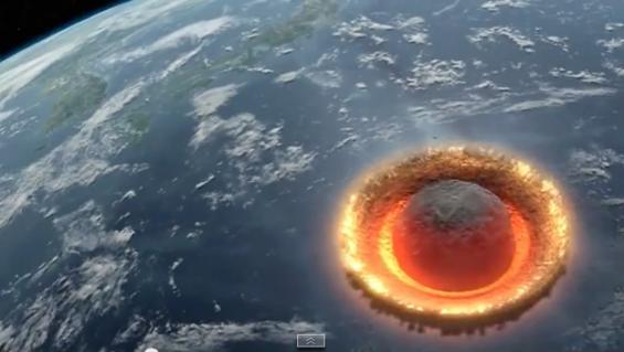 Video: meteorito de 500 kilómetros de diámetro arrasa la Tierra