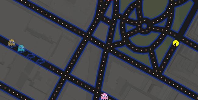 Google permite jugar al Pac-Man por las calles de Google maps