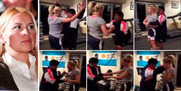El video de Diego Maradona y Rocío Oliva bailando Perra