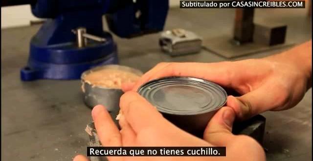 Video: ¿Cómo abrir una lata sin abrelatas?