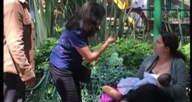 Video: Insulta a una mujer por estar amamantando a su bebé en una plaza