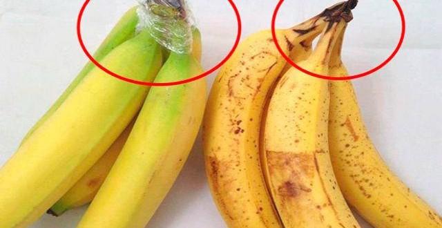 Truco para mantener las bananas frescas