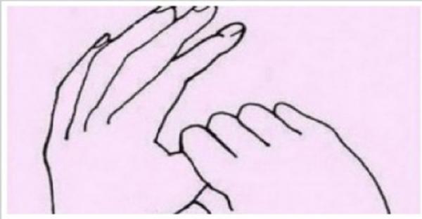 Truco para aliviar los nervios usando los dedos