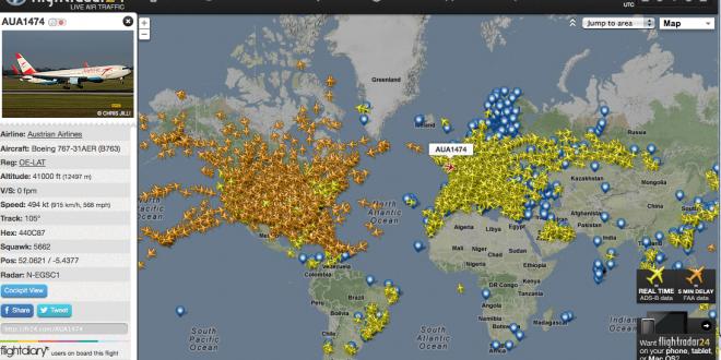Aplicación para ver los vuelos en tiempo real