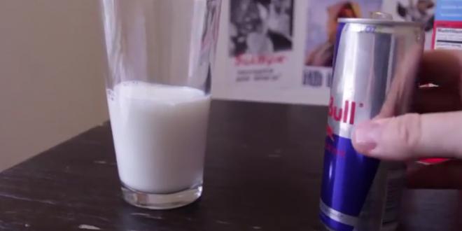 Video: Qué ocurre si mezclas leche con Red-Bull
