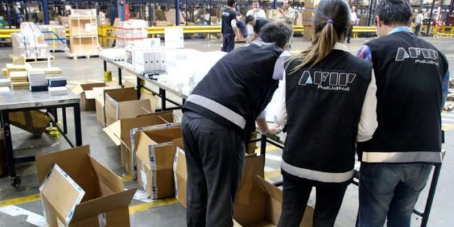 AFIP secuestró contrabando de electrónica