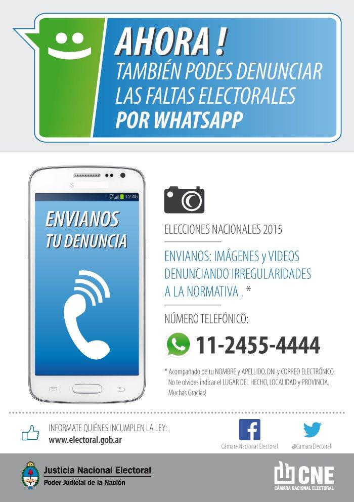 Como denunciar delitos electorales por WhatsApp