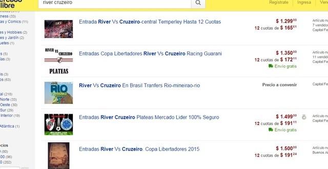 Allanamiento en las oficinas de MercadoLibre por la reventa de entradas para River-Cruzeiro