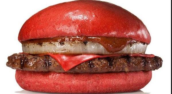 Una hamburguesa roja
