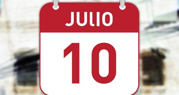 ¿El 10 de julio es feriado puente?