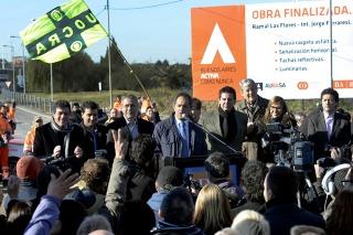 Scioli inauguró una nueva bajada de la Autopista Buenos Aires-La Plata