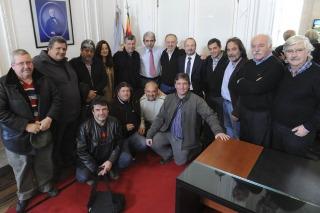 Aníbal Fernández y Sabbatella se reunieron con la dirigencia de la CTA