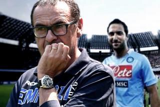 Murizio Sarri calificó a Gonzalo Higuaín como un fuera de clase