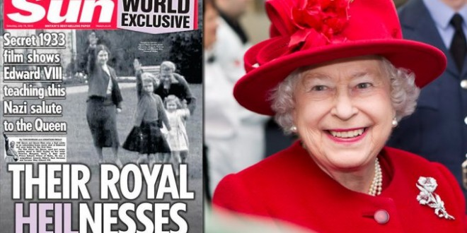 Escándalo en Inglaterra por un video de la reina Isabel haciendo el saludo nazi
