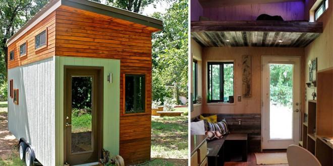 No a los bancos: Decidió construir su propia mini-casa para poder graduarse sin acumular deudas