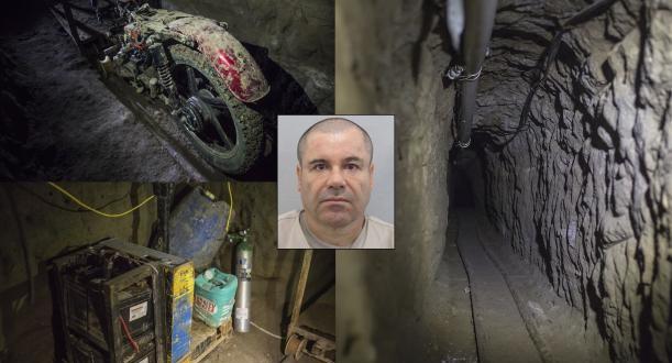 """Video: Así es el túnel por el que se fugó """"El Chapo"""" Guzmán"""