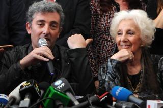 """Estela de Carlotto: """"Se cumple un año de haber encontrado a mi nieto Guido y desbordo de felicidad"""""""