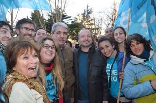 Anibal Fernández y Sabbatella cierran su campaña en el Gran Rex