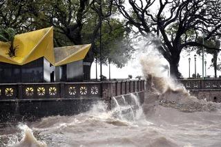 Alerta por vientos fuertes del sudeste en el Río de la Plata, delta del Paraná y la costa bonaerense