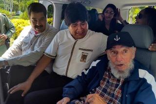 Fidel Castro y Nicolás Maduro visitaron por sorpresa a Evo Morales
