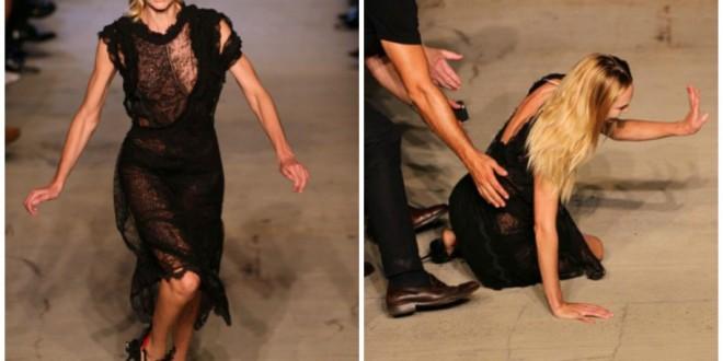 VIDEO: Modelo Candice Swanepoel se cae en desfile de la Semana de la Moda de Nueva York