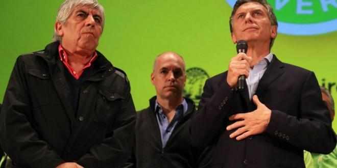 Macri y Moyano se mostraron juntos