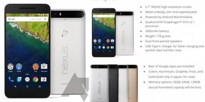 Así es el Nexus 6P de Google