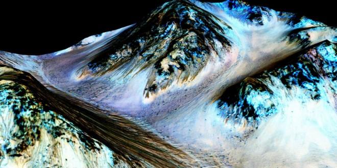 La NASA encontró signos de agua líquida en Marte