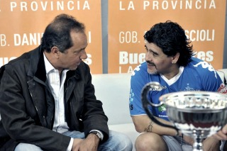 Maradona respaldó a Scioli y Zannini