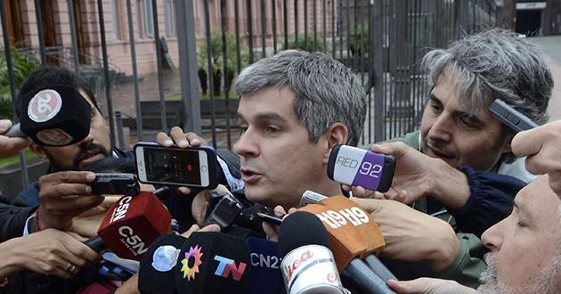 """Marcos Peña: """"Fue positiva la reunión con Aníbal Fernández"""""""