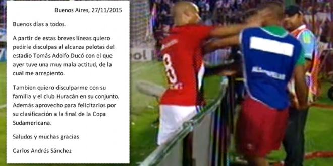 Sánchez pidió disculpas por la agresión al alcanzapelotas