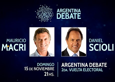 Las reglas del debate Scioli-Macri