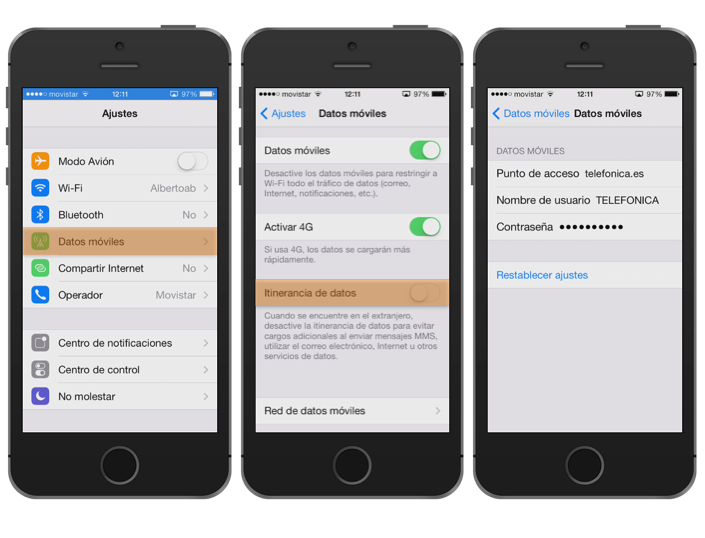 Configurar los datos moviles de iphone 6 para claro for Configurar cocina online