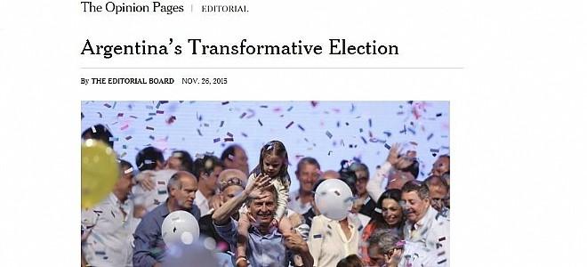El New York Times dice que Macri puede transformar a la Argentina