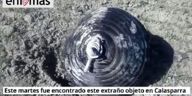 Hallaron restos de una nave espacial en un campo español