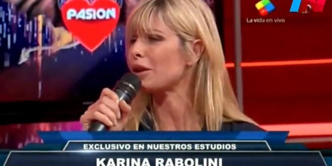 Karina Rabolini hace campaña en un programa de música tropical