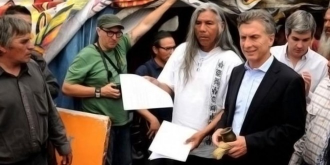 Macri firmó un acta de compromiso para dialogar con los pueblos indígenas sin intermediarios