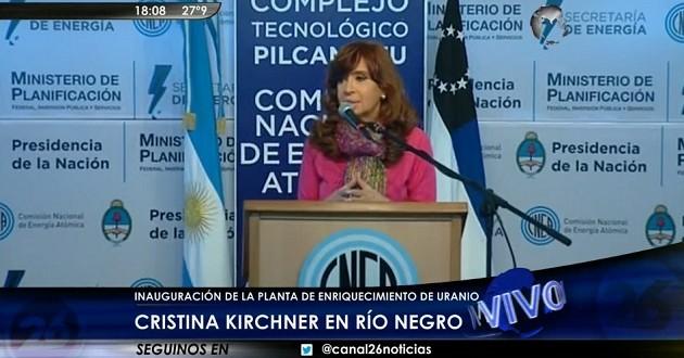 """Cristina Kirchner """"Estamos construyendo catorce centros de medicina nuclear"""""""