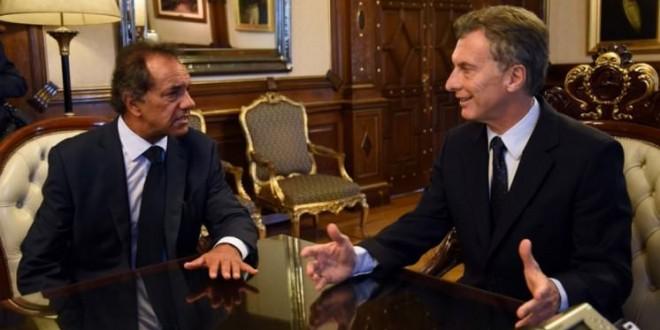 Macri consideró con Scioli nuevas ideas para ordenar el esquema fiscal del país