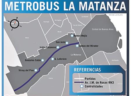 Comenzaron los trabajos para el Metrobus que unirá La Matanza con Capital