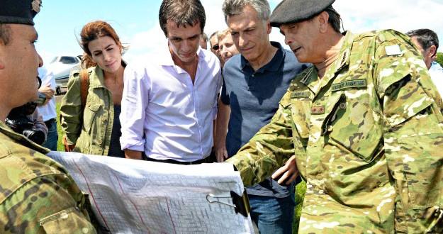 """Macri dará """"soluciones definitivas"""" para las zonas inundadas"""