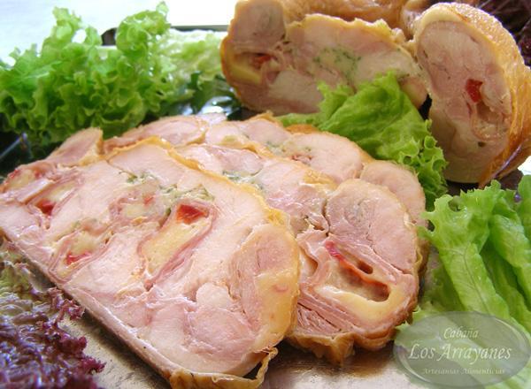 Receta pollo relleno casero