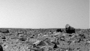 Descubren a un gorila en la superficie de Marte