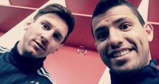 El Kun Agüero tentó a Lionel Messi para que juegue en el City