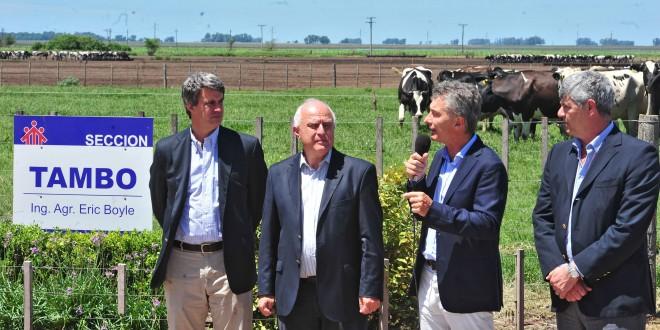 Macri anunció medidas de apoyo para el sector lácteo